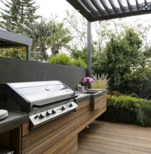 Kwila decking built in BBQ