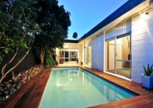Kwila decking pool surround