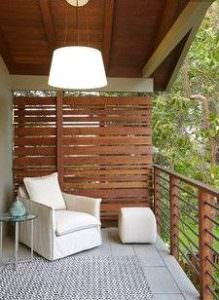 Kwila Decking privacy wall