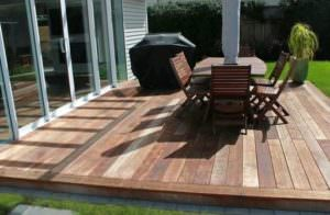 Kwila decking deck