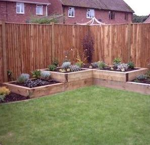Kwila decking garden beds