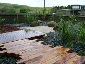 Kwila decking path